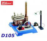 D105 00105 Wilesco Steam  Engine with Dynamo and Street Light