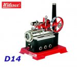 D14 00014 Wilesco Double-Action Steam Static Engine