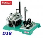 D18 00018 Wilesco  Steam Engine with Dynamo and Light