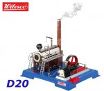 D20 00020 Wilesco  Steam Engine with manometer