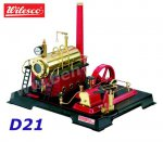 D21 00021 Wilesco Steam Engine with manometer