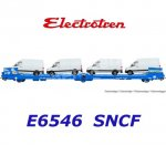 "E6546 Electrotren 3-axle Flat Car Transporter ""GEFCO"",  of the SNCF"