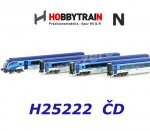 H25222 Hobbytrain N 4-pieces Coach Set Railjet with Cab Control Cars, CD