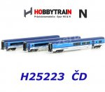 H25223 Hobbytrain N 3-pieces Coach Set Railjet with Cab Control Cars, CD