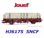 HJ6175 Jouef Flat Car Type Lgs loaded with 2 containers, SNCF