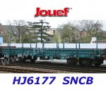 HJ6177 Jouef  Flat car type Rmms loaded with steel plates of the SNCB