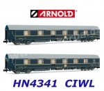 HN4341 Arnold Set of 2 sleeping cars T2 of the DB/CIWL
