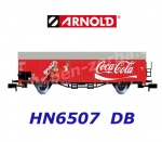 "HN6507 Arnold N  Boxcar Type Gbs ""Coca Cola"" of the DB"