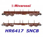 HR6417 Rivarossi Set of 2 Flat Cars Type Rmms and Remms of the SNCB