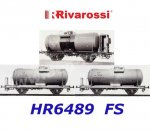 HR6489 Rivarossi Set of 3 tank wagons, of the FS