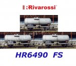 HR6490 Rivarossi Set of 3 tank wagons, of the FS