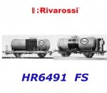 "HR6491 Rivarossi Set of  2tank wagons,""ESSO"", of the FS"