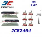 JC82464 Jagerndorfer  Cableway Set, with 6 Seater, 1:87